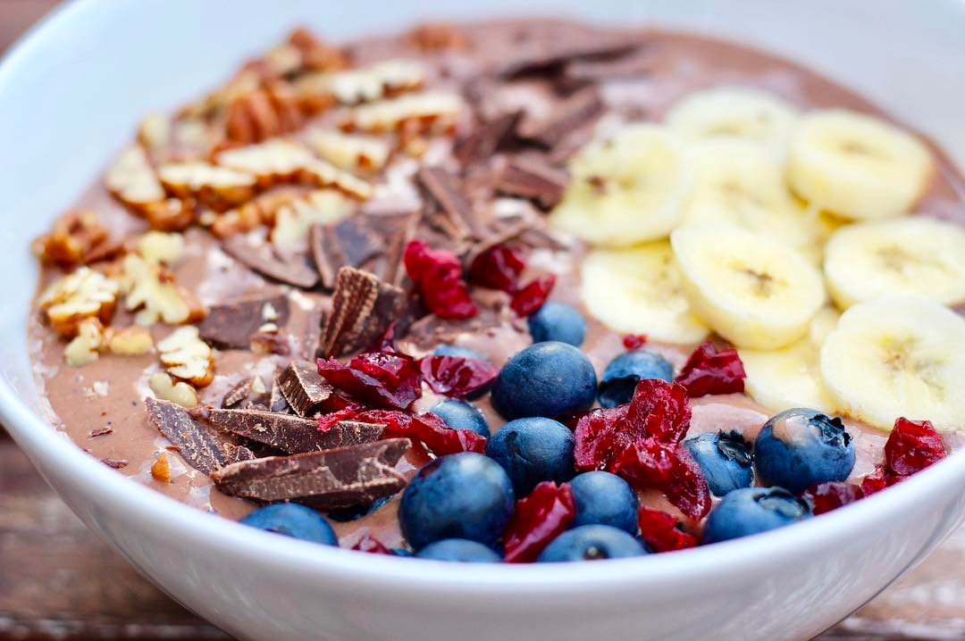 Vegan Chocolade Smoothiebowl